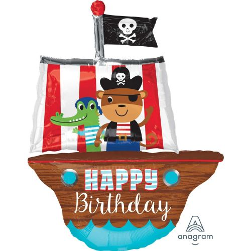 Pirate Ship Happy Birthday SuperShape